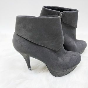 FOREVER 21 Stiletto Vegan Suede Booties